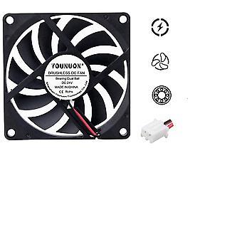 2pcs 80mm 5v Usb 5v 12v 24v 2pin 3pin Brushless Dc Cooling Cooler Fan