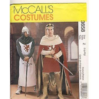 McCalls Naaipatroon 3658 Mens Camelot Kostuums Maat L-XL Uncut