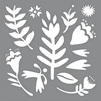 Decoart Adhesive Stencil - Fun Floral