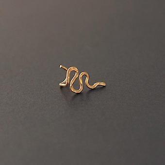 925 Silber echte Piercing Nase Ring gehämmert Septum Ring handgefertigten Schmuck