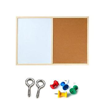 Message Cork Board, Wood Frame, Whiteboard Drawing Combination, Magnetic Boards