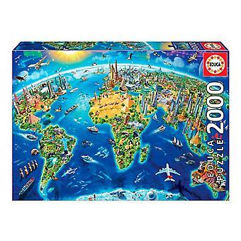 Puzzle World Educa (2000 Stück)