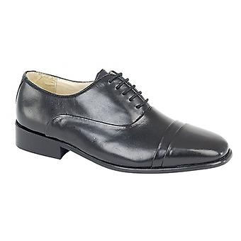 Montecatini Adrian Mens Capped Oxford Shoes Black