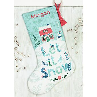 Dimensions Counted Cross Stitch Kit: Stocking: Holiday Home