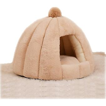 Cat Dog Pet Tent Cave Bed, Washable Ultra Soft Cozy Warm Puppy House