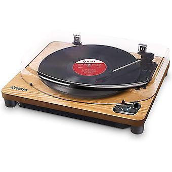 FengChun Air LP - Vintage USB Bluetooth Plattenspieler mit drei Geschwindigkeitsstufen und Vinyl zu