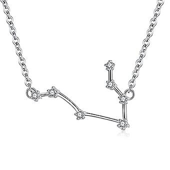 Gemshadow Zodiac sterling 925 silver necklace with star-shaped cubic zirconia sign jewelry birthday gifts for Ref. 0645249404495