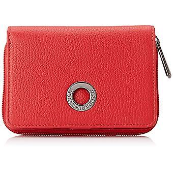 Mandariini ankka mellow nahka, naisten lompakko, punainen (liekki scarlet), 3x10x14 cm (L x K x L)