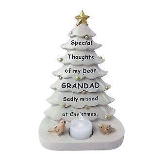 David Fischhoff Grandad Christmas Tree With Flickering Led Candle Light Memorial Ornament