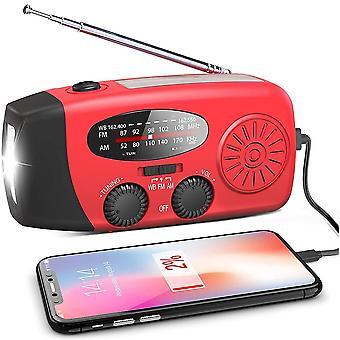 アウトドアキャンプラジオハンドクランクソーラーUSB充電FM Am Wb Noaa天気ラジオ