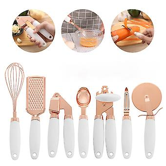 Grater 7pcs Set Home Kitchen Tool With Hole Can Opener Stainless Steel High End Spoon Temperature Resistance Peeler Kitchenware