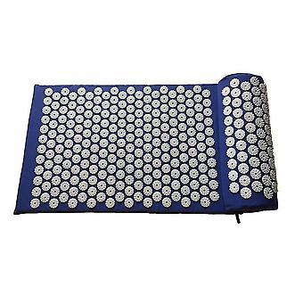 Oreiller et tapis de massage d'acupuncture bleus pour soulager les maux de dos x6524