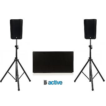 """Big gig rig 45 - compact active 1600w rms 8"""" tops and a twin 12"""" active subwoofer pa system with bluetooth"""