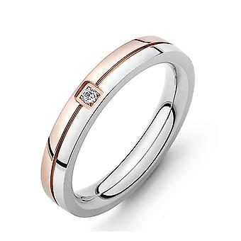 Chip Trip Paar Ringen Belofte Ringen Voor Koppels Kleur Matching Diamond Titanium Stalen Ring