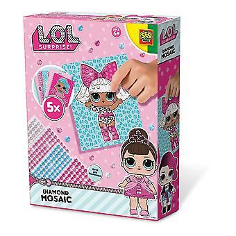 LOL Surprise - Set mosaico di diamanti per bambini 6-12 anni (multicolore)