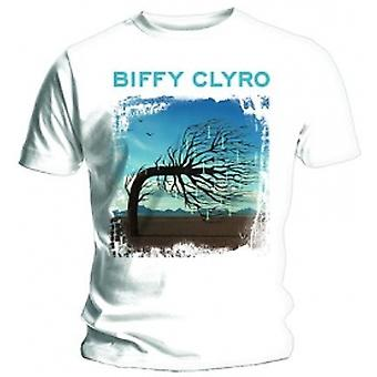 Biffy Clyro Opposites White T Shirt: XXL