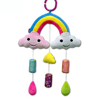 Clouds Rainbow Baby Hanging Toys Children Rattle Toys With Chime Sound Paper Bb Device Soft Plush Rattling Doll