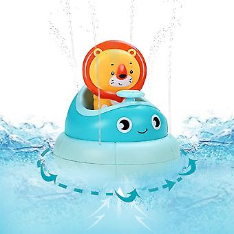 Bath Toys For Baby Lion Bath Automatic Spray Water Toy Bathtub Toys Interactive Spinning Boat