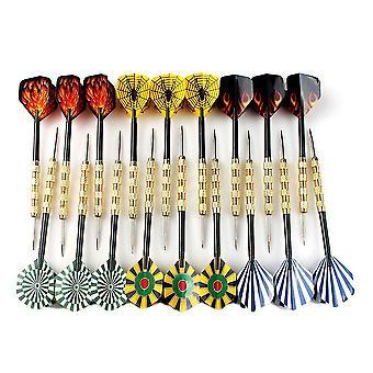 Uudet 18kpl teräskärki dart darts mukavilla lentolennoilla heittämällä lelua