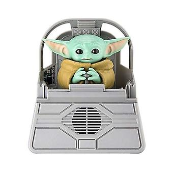 Musikaali lelu vauva Yoda Mandalorian Bluetooth kaiuttimet (17 x 9 x 24 cm)