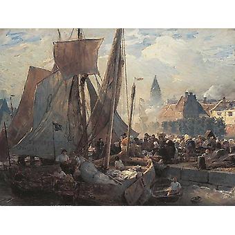 Fischmarkt i Ostende,Andreas Achenbach