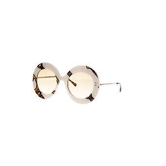 غوتشي GG0894S 003 العاج والذهب / نظارات شمسية التدرج البني