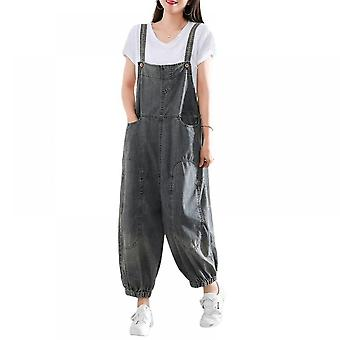 Woman Casual Demin Pants Jeans Loose Overalls