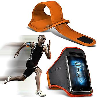 Huawei P8 Lite (2017) Case (Orange) Case Cover Adjustable Fitness Running Jogging Cycling Gym Armband Holder