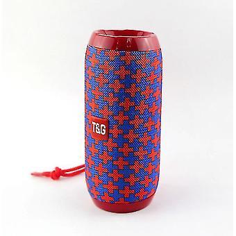 Altoparlante da esterno Bluetooth portatile da 10w, colonna wireless portatile impermeabile (rosso fiore)