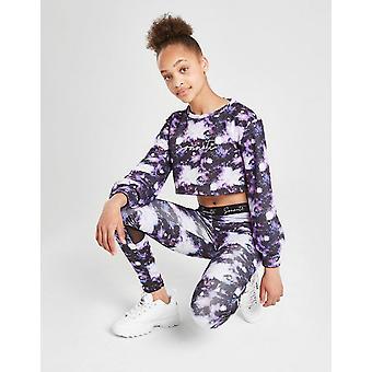 New Sonneti Girls' Galaxy Crop Sweatshirt from JD Outlet Purple