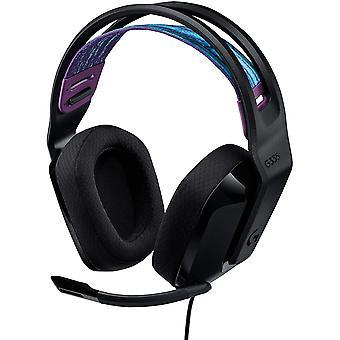 Casque de jeu filaire Logitech G335, avec micro, prise audio 3,5 mm, casque en mousse, léger (noir)