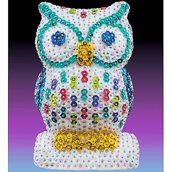 Sequin Art 3D Sequin Owl