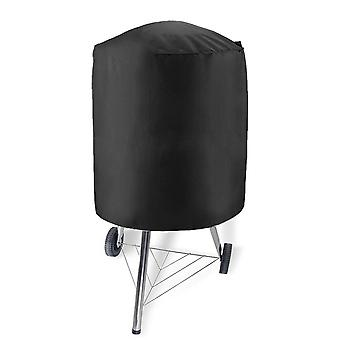 Round Grill Cover Water Proof Heavy Duty Outdoor Canvas Bbq Grill Cover