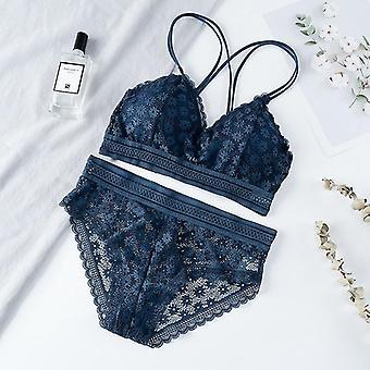 Seamless Underwear Backless Vest Panties Lingerie Padded Bra Sets