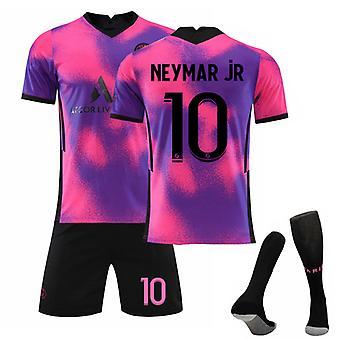 Neymar jr #10 Jersey 2021-2022 Uusi kausi Pariisi Jalkapallo T-paidat Jersey Set for Kids Youths