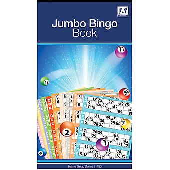 Jumbo Bingo Book Pad 480 Games Coded Tickets 6 to View Various Colours