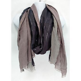 VT Luxe Sweater Three Panel Wrap w/ Sequin & Lurex Gray