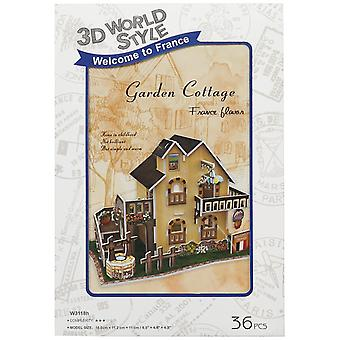 Jigsaw puzzles 3d puzzle world style-series ''france flavor - garden cottage''