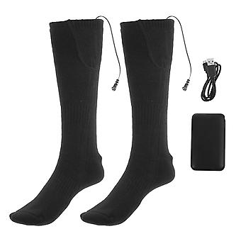 1 Set Of Fashionable Heating Sock Winter Thick And Warm Electric Stockings