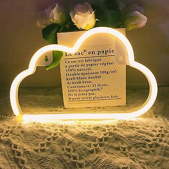 Neonlicht, LED-Wolkenschild, Blitzlampen, Liebesteller, Lippen, Lampe, Wanddekoration für Weihnachten, Geburtstagsfeier, Kinderzimmer, Wohnzimmer, Hochzeitsfeier De