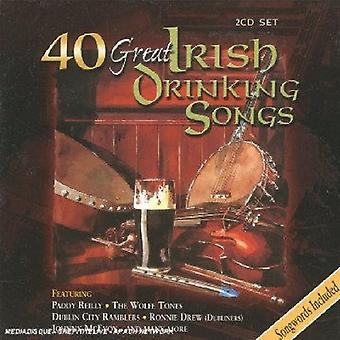 40 Great Irish Drinking Songs - 40 Great Irish Drinking Songs [CD] USA import