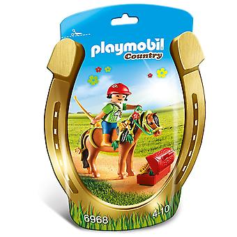 Playmobil 6968 land Collectable Groomer med Bloom ponny