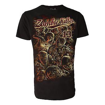 Darkside - zombie killer 13 red - mens t-shirt - black