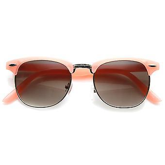 لون الباستيل شبه مؤطرة الإطار نصف القرن انعقدت النظارات الشمسية