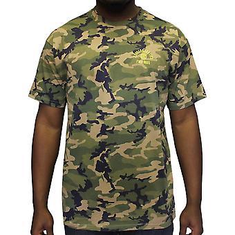 Bandidos & castelos tempestade tranquila t-shirt militar Camo