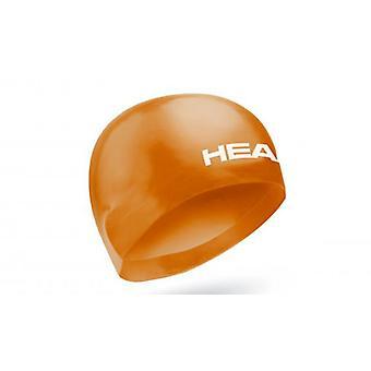Head 3D Race Swimming Cap - Orange