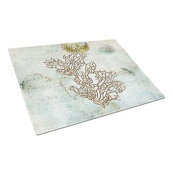 Carolines Treasures  SB3040LCB Coral  Glass Cutting Board Large