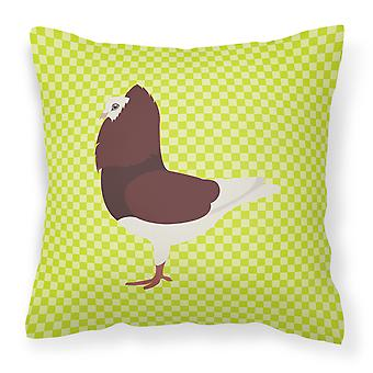 Capuchin Red Pigeon Green Fabric Decorative Pillow
