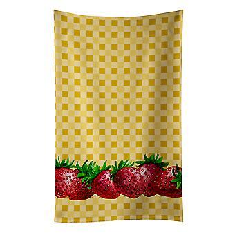 Carolines skarby BB7182KTWL truskawki na Ręcznik kuchenny Basketweave