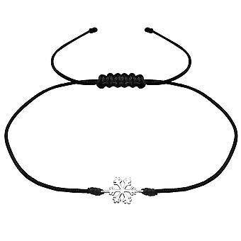 Snöflinga - 925 Sterling Silver + nylonlina sladd armband - W31768x